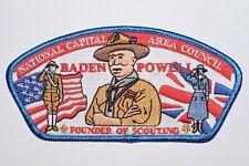 Baden Powell- Union Jack + American Flag- National Capital Area Council CSP