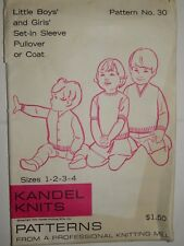 Kandel Knits Pullover Top Coat 30 UC FF Little Boy Girl 1 2 3 4 Sewing Pattern