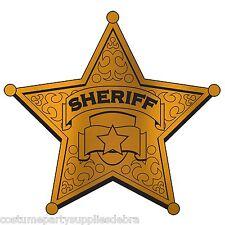 2 x Cowboy...Western...Sheriffs Star Cutout...Wall Decoration Prop...Rodeo