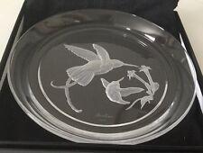 HOYA Boehm Crystal Glass Hummingbirds Collector Plate-Vintage.      #374