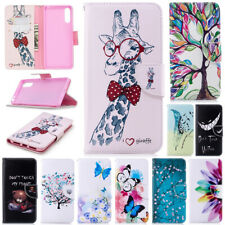 For Sony Xperia L4 2 5 8 10 XA2 Painted PU Leather Wallet Stand Phone Case Cover
