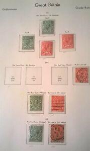GB KGV SC 151-154 157-158b* SG {101-102 Series } 1911-1912 1p-2p On Page w/id