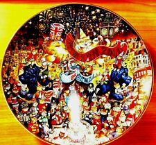 2 Franklin Mint Collector Cat Plates Limited Ed, Happy New Year 2000 New Century