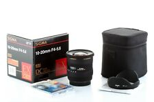 Objectif Sigma 10-20mm EX DC HSM pour Canon EOS:80D 70D 7D (22 EF-S) Garanti