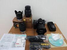 Huge Nikon D7000 DSLR Camera Bundle: 4 lenses, 3 batteries, Meike Grip & more!