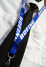Boeing CO. Pilots / Crew BLUE Lanyard neckstrap with safety clip Lanyard