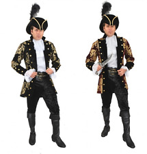 e29ce9786b5 French Pirate Jacket by Charades Men 3x (56-60) Wine and Gold