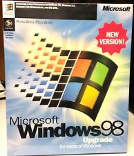 WINDOWS 98 NEW VERSION CD FULL COMPLETE SYSTEM + KEY *NEW* *SEALED BOX*