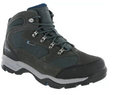 Hi-Tec Storm WP Men's Walking Hiking Boots Charcoal Grey Majolica Blue UK Size 8