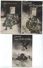 1931 LOTTO DI CARTOLINE MILITARI 'SALUTI DALL'AUTOCENTRO' E DI CONGEDO