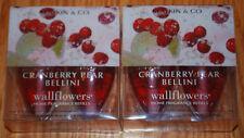 Bath & Body Works Wallflowers Lot of 4 Plug In Refills CRANBERRY PEAR BELLINI