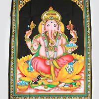 TENTURE MURALE TABLEAU Ganesh inde Bollywood Thangka Ganesha Om hippie kpa 4