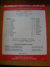 31/08/1983 Barnsley Reserves v Oldham Athletic Reserves  (Colour Single Sheet, F