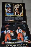 """STAR WARS 12"""" WEDGE ANTILLES & BIGGS DARKLIGHTER X-WING PILOTS FAO SCHWARZ MIMB"""