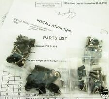 03 04 05 06 DUCATI 749 999 COMPLETE FAIRING BOLTS SCREWS FASTENERS KIT USA