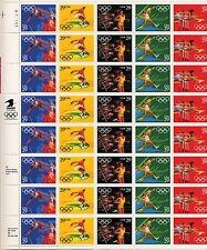 1991 - Summer Olympics  -  Mint Sheet  -  Scott # 2553-7 - Pane of 40 - 29¢