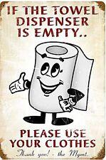 Si le distributeur de serviette est vide métal rouillé signe (pst 148)
