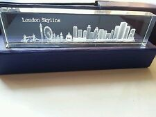 London Skyline Crystal Glass Paper Weight Office Showpiece (Large) Souvenir Gift