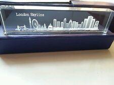 LONDON 3D SKYLINE CRYSTAL GLASS  SHOWPIECE , PAPER WEIGHT (LARGE) SOUVENIR GIFT