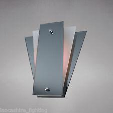 Designer Wall Light - Stylish Art Deco Wall Light with Smoke Grey And White