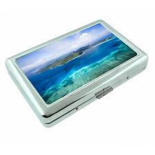Fiji Islands D5 Silver Metal Cigarette Case RFID Protection Wallet Tropical