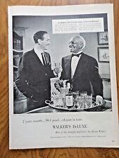 1956 Walker's De Luxe Whiskey Ad Lee Bowman & Butler Robert