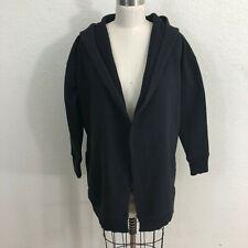Athleta Prajna Wrap Cardigan Sz S Black Hooded Sweatshirt Jacket
