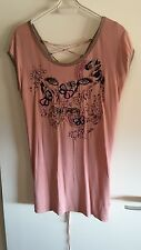 NEW AUTHENTIC CUSTO BARCELONA EMBROIDERED DUSTY PINK TOP size 3 or UK 12 or M