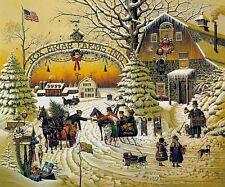 "Charles Wysocki "" Christmas Greeting ""  S/N   (1989)"
