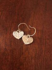 Heart Wings Silver Pierced Costume Earrings