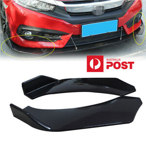 2x Car Auto Front Bumper Lip Splitter Body Side Spoiler Protector ABS Universal