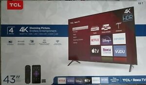 TCL 43S421 43 Inches Ultra HD Smart LED TV - Black