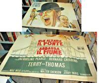 Nicht Hissflagge Die Brücke Senkt Fluss Manifesto 4F Original 1968 Jerry Lewis
