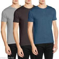 Brave Soul Patternless Crew Neck Casual Shirts & Tops for Men