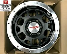 NEW OEM TOYOTA BLACK TRD BLACK BEADLOCK 16 INCH WHEELS 4 PIECE SET