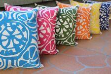 50cm Cushion Cover: Floral Geometric Pillow Case Throw Beige Linen Decor Print