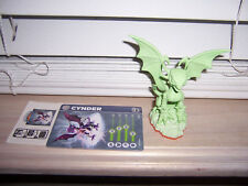 Skylanders Giants Glow-In-The-Dark CYNDER With Stat Card & Sticker