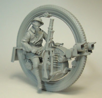 1:35 Resin Figure Model Kit Unpainted Soldier With Monowheel Historical WWII