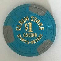 Claim Stake $1 Casino Chip Sparks Old Obsolete