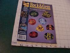 Vintage Orig High Grade Magazine: Rock & Gem may 1998; 90pgs v clean