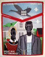 OCTORARO LODGE 22 PA 2015 NOAC OA 100TH CENTENNIAL 2-PATCH AMERICAN GOTHIC ART