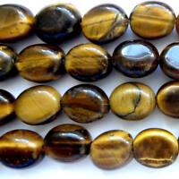 16 Inch Semi Precious Tiger Eye 14x10mm Loose Beads Jewellery Making