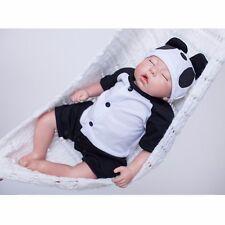 "Silicone Reborn Baby Handmade Lifelike Newborn Sleeping Panda Boy Doll Model 20"""