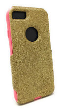 Otterbox Commuter Custom Hand Crafted Glitter Case For iPhone 7 Gold/Pink