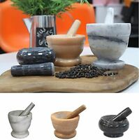 Traditional Style Marble Pestle and Mortars 3 Sizes Kitchen Spice / Herb Grinder