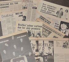 Vintage Various Beatles & John Lennon Music Paper Cuttings 1960's & 1970's