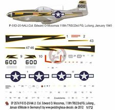 Peddinghaus 1/72 P-51D-10NA Mustang Black 600 Markings Edward McComas China 2574