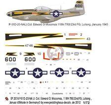 Peddinghaus 1/72 P-51D-10NA Mustang Black 600 Markings Edward McComas China 2574