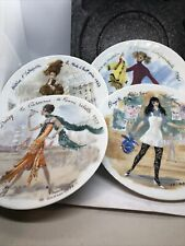 Collector Plates: Henri D' Arceau Les Femmes Du Siecle Set Of 4 Plates Limoges