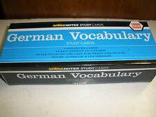 Spark Notes study Cards German Vocabulary Study Cards 1,000 cards